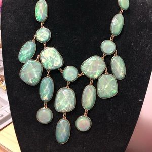 Green chunky beautiful necklace